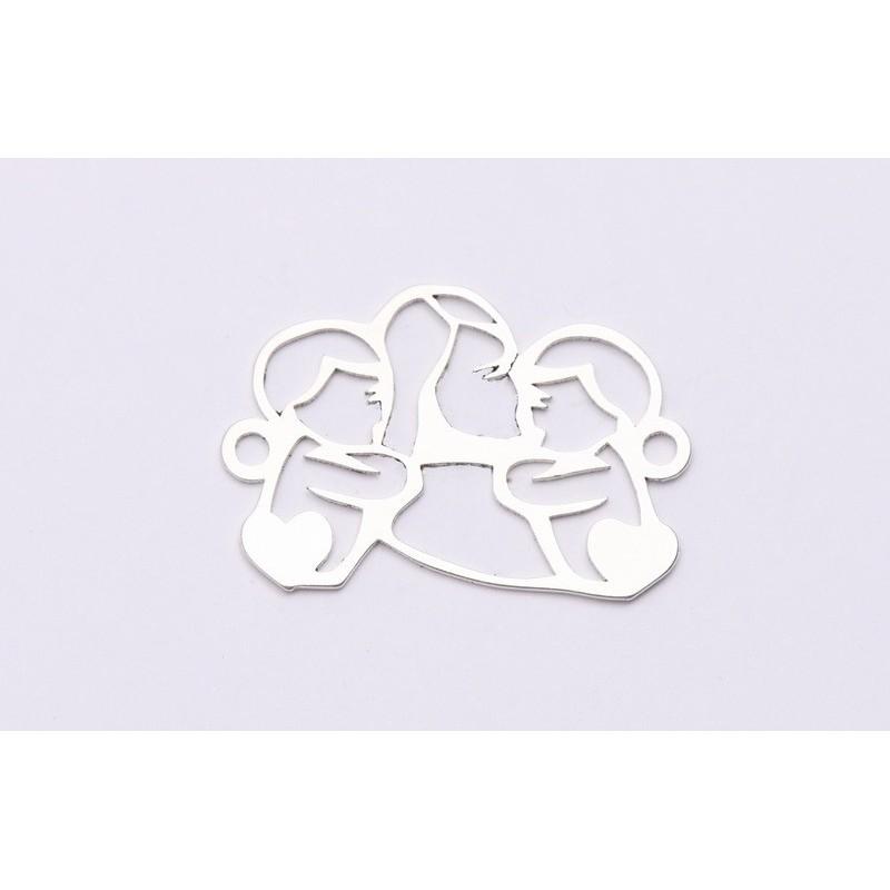 2753-Swarovski Elements 2078/H Crystal Golden Shadow Silver-Foiled GR 7mm - 1BUC