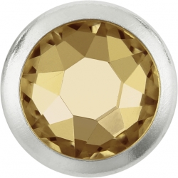 2754-Swarovski Elements 2078/H Crystal Golden Shadow Silver-Foiled SR 7mm - 1BUC