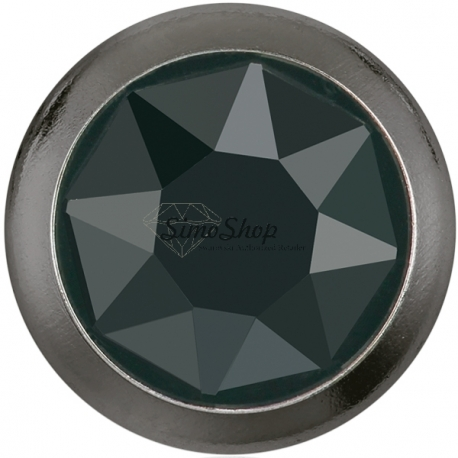 2758-Swarovski Elements 2078/H Crystal Jet Hematite Silver-Foiled GR 7mm - 1BUC